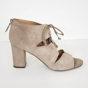 Franco Sarto Suede Leather Tan Sandals Size 8.5